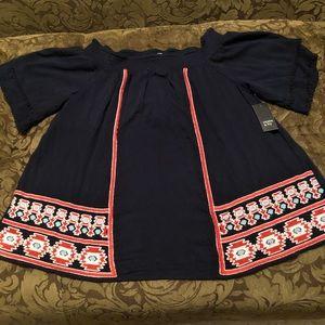 Crown & Ivy Blue Plus Size Shirt
